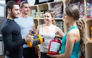 customers buying pre workout supplements