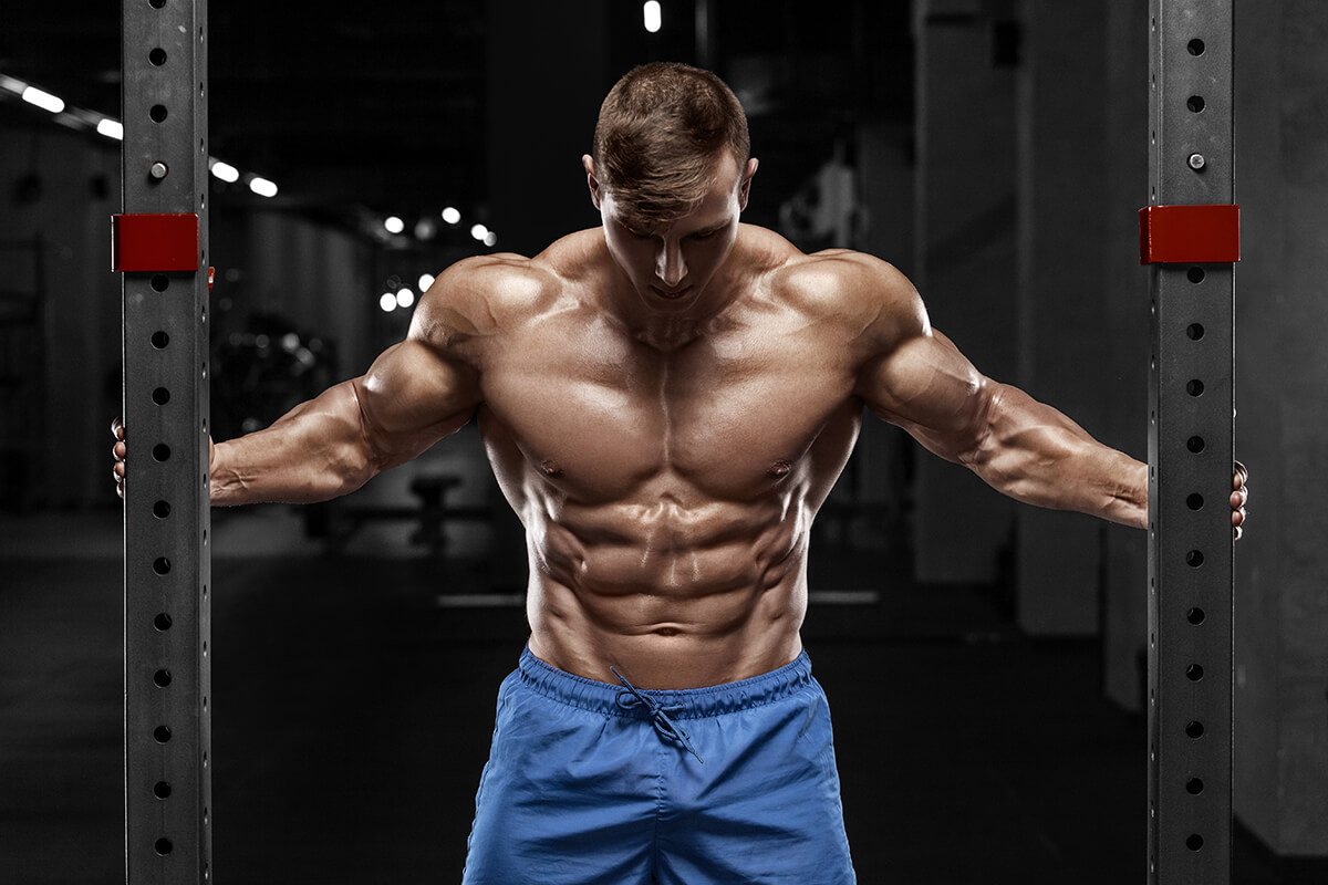Guy stretching abs
