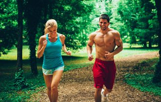 the best cardio for fat loss running outdoors couple