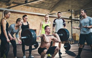 weight lifting power clean