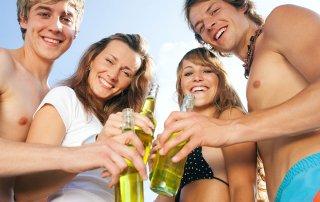 beach drinking alcohol
