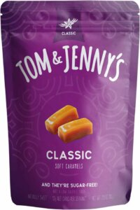 Store Bought Keto Desserts - Tom & Jennys Classic Sugar Free Soft Caramel Candy